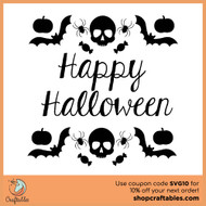 Free Happy Halloween SVG Cut File