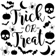 trick or treat svg cut files