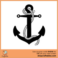 Free Anchor-With-Rope SVG Cut Files