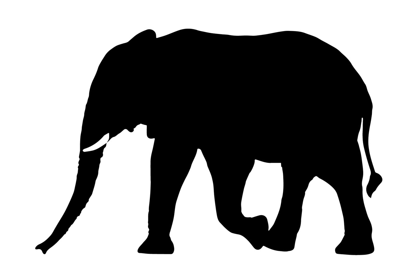 Animals Black And White Elephants 10000 Lions Big Cats: Free Elephant SVG Cut Files