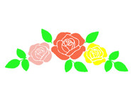 Free Row-Of-Roses SVG Cut Files
