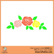 Free Row of Roses SVG Cut Files