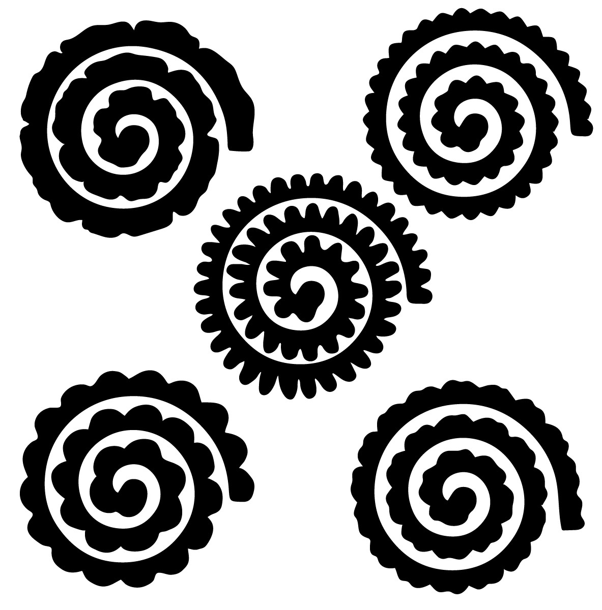 Luxury Rolled Flower Template Svg Free - flowers pictures