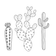 Free Cacti garden SVG Cut File