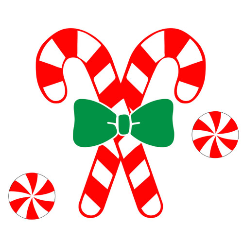 Free Candy Cane SVG Cut File