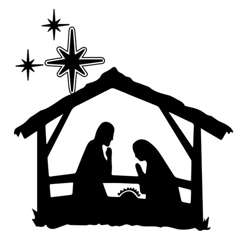 image relating to Free Printable Silhouette of Nativity Scene called Free of charge Nativity Svg Lower Report Craftables