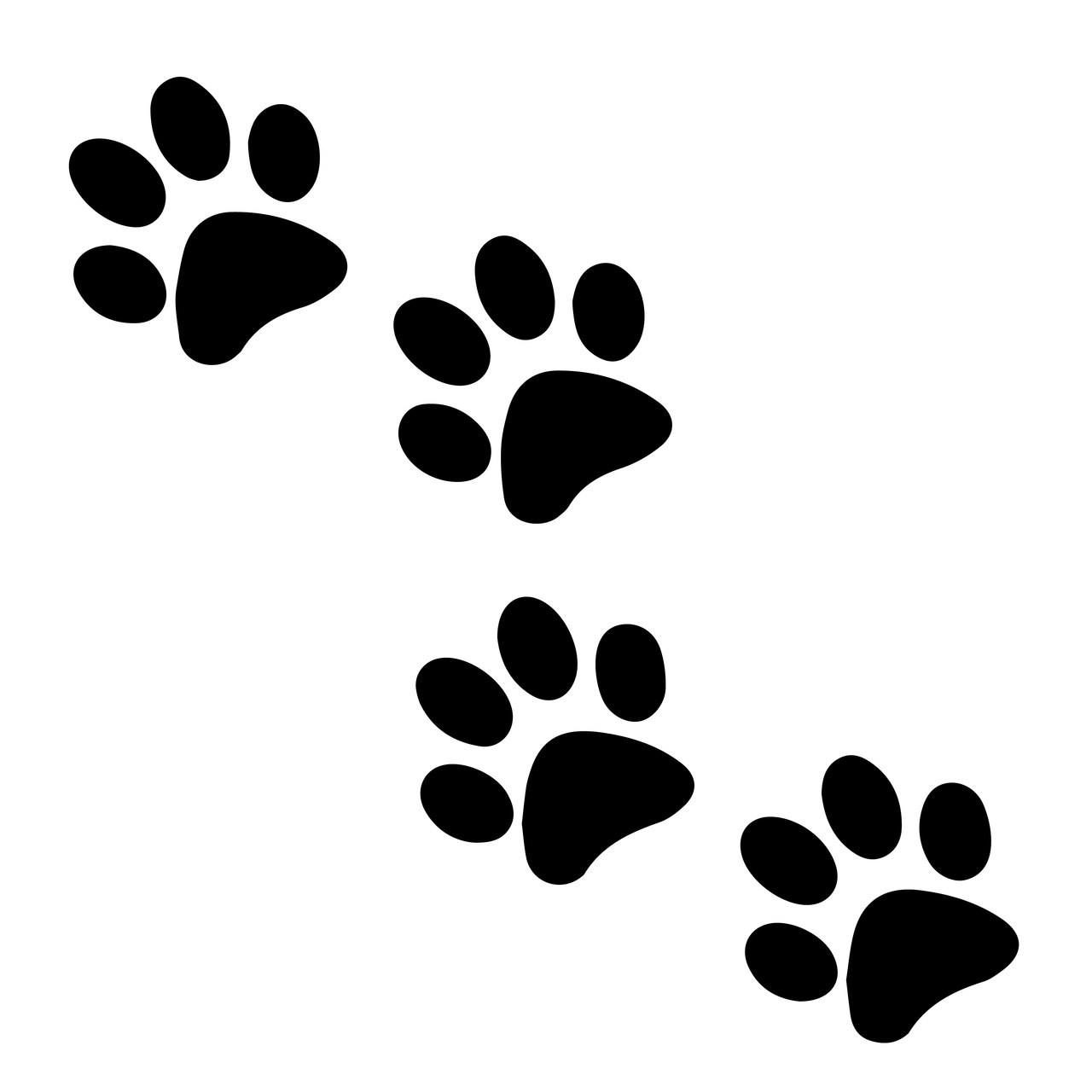 photo relating to Dog Paw Print Stencil Printable Free called No cost Paw Print Svg Slash History Craftables