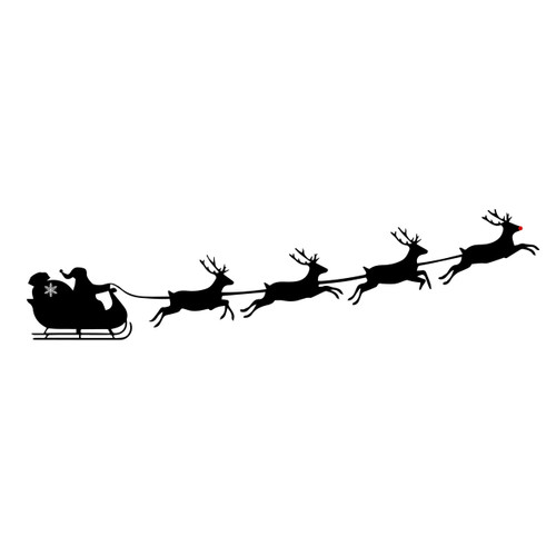 Free santa sleigh SVG Cut File