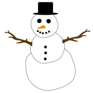 Free snowman SVG Cut File