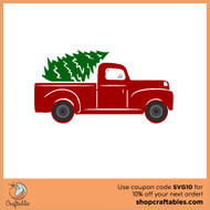 Christmas Tree Truck Svg Free.Free Tree Truck Svg Cut File Craftables