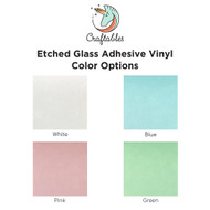 Craftables Etched Glass Adhesive Vinyl Sheets By Color