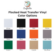 Craftables Flocked Heat Transfer Vinyl Sheets by Color
