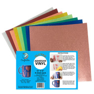 Craftables Glitter Adhesive Vinyl Popular Pack - (8) 12in x 12in sheets