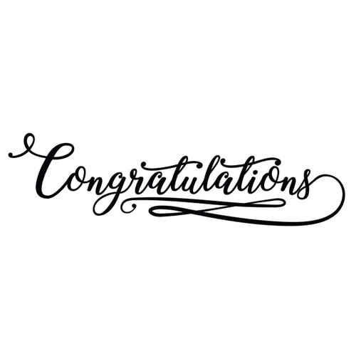 Free Congratulations SVG Cut File