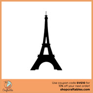Free Eiffel Tower SVG Cut File