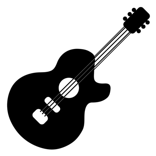 Free Guitar SVG Cut File