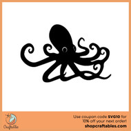 Free Octopus SVG Cut File