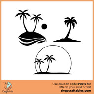 Free Palm Tree SVG Cut File