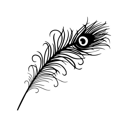 Free Peacock Feather SVG Cut File
