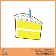 Free Birthday Cake  SVG Cut File