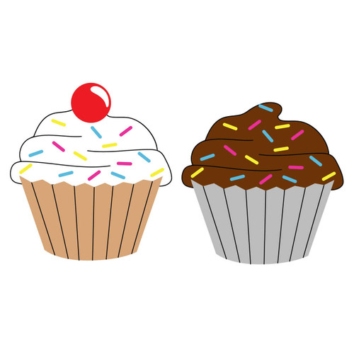 Free Cupcake  SVG Cut File