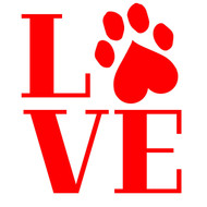 Free Pawprint Love  SVG Cut File