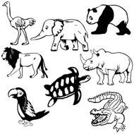 Free Zoo Animals  SVG Cut File