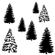 Free Winter Trees  SVG Cut File