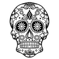 Free Sugar Skull SVG Cut File