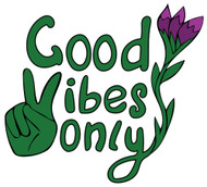 Free Good Vibes Only SVG Cut File