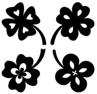Free Four Leaf Clovers SVG Cut File