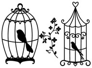 Free Bird Cages SVG Cut File