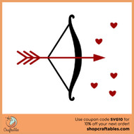 Free Bow and Arrow SVG Cut File