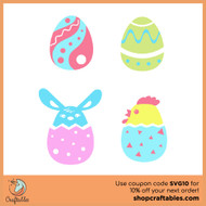 Free Easter Eggs SVG Cut FIle