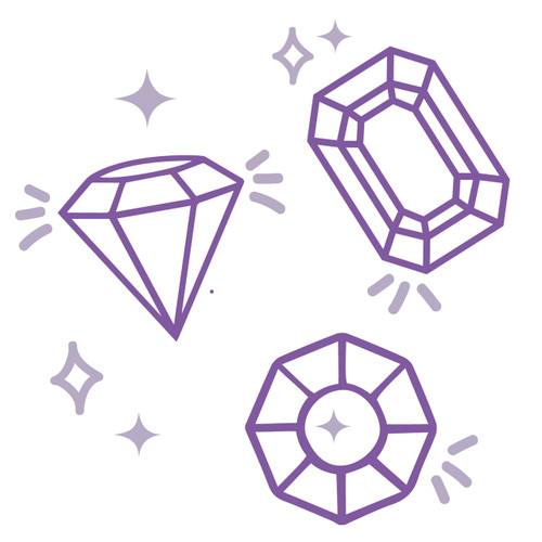 Free Gems SVG Cut File