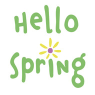 Free Hello Spring SVG Cut File