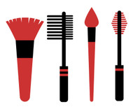 Free Make Up Brushes SVG Cut File