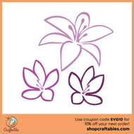 Free Tropical Flowers SVG Cut File
