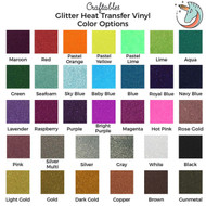 Craftables Glitter Heat Transfer Vinyl Rolls - 10 inches x 8 feet