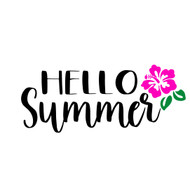 Free Hello Summer SVG Cut File