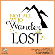 Free Not All Who Wander Are Lost SVG Cut File