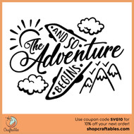 Free And so the Adventure Begins SVG Cut File