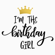 Free Birthday Girl SVG Cut File