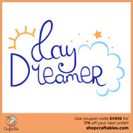 Free Day Dreamer SVG Cut File