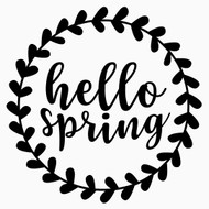 Free Hello Spring Border SVG Cut File