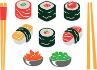 Free SVG Sushi Cut File