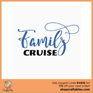 Free Family Cruise SVG Cut File