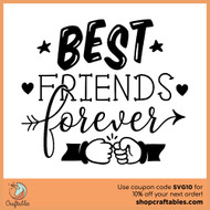 Free Best Friends Forever SVG Cut File