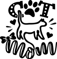 Free Cat Mom SVG Cut File