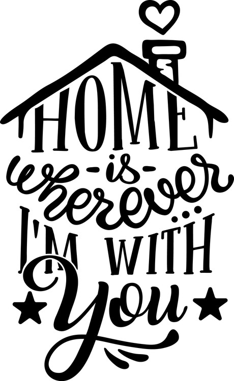 Free Home is Wherever I'm with You SVG Cut File